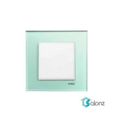 کلید و پریز VIKO مدل آرتلاین Artline با کادر شیشه ای سبز