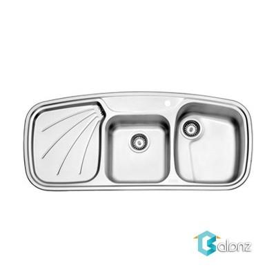 سینک فانتزی استیل البرز توکار مدل614