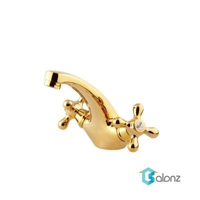 شیر روشویی باروک پلاس Shouder مدل Baroque طلا براق
