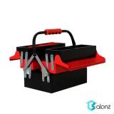 جعبه ابزار فلزی 3 طبقه آروا مدل 4703